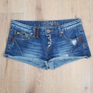 Express RE ROCK - Cut Off Jean Shorts
